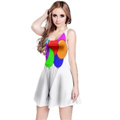 Colorful Balloons Reversible Sleeveless Dress