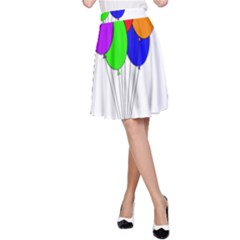 Colorful Balloons A-Line Skirt
