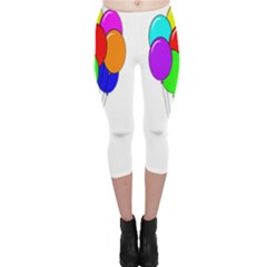 Colorful Balloons Capri Leggings
