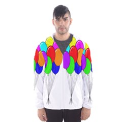 Colorful Balloons Hooded Wind Breaker (Men)