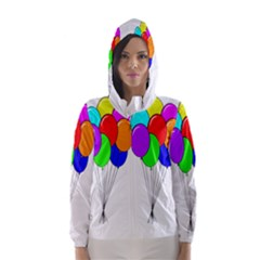 Colorful Balloons Hooded Wind Breaker (Women)