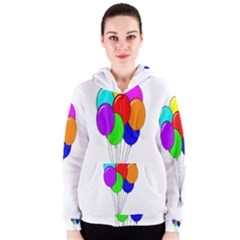 Colorful Balloons Women s Zipper Hoodie
