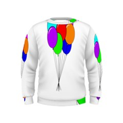 Colorful Balloons Kids  Sweatshirt