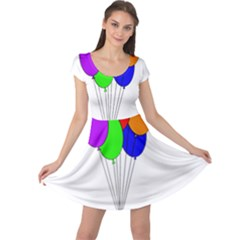 Colorful Balloons Cap Sleeve Dresses