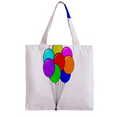 Colorful Balloons Zipper Grocery Tote Bag