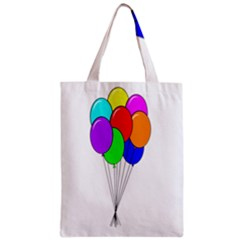 Colorful Balloons Zipper Classic Tote Bag