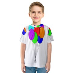 Colorful Balloons Kid s Sport Mesh Tee
