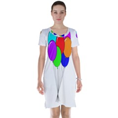 Colorful Balloons Short Sleeve Nightdress