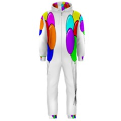 Colorful Balloons Hooded Jumpsuit (Men)