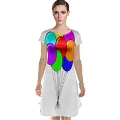 Colorful Balloons Cap Sleeve Nightdress