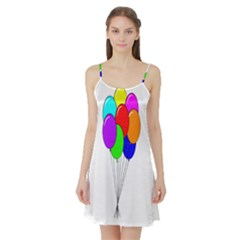 Colorful Balloons Satin Night Slip
