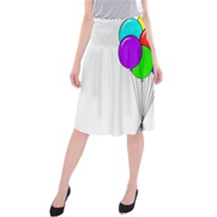 Colorful Balloons Midi Beach Skirt