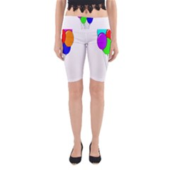 Colorful Balloons Yoga Cropped Leggings