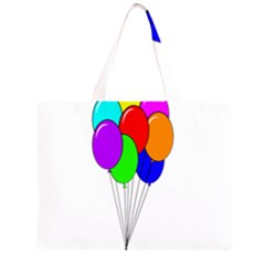 Colorful Balloons Large Tote Bag