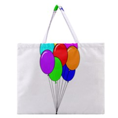 Colorful Balloons Zipper Large Tote Bag
