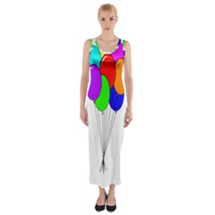 Colorful Balloons Fitted Maxi Dress