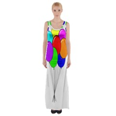 Colorful Balloons Maxi Thigh Split Dress