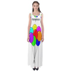 Colorful Balloons Empire Waist Maxi Dress