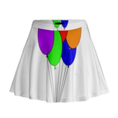 Colorful Balloons Mini Flare Skirt