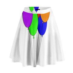 Colorful Balloons High Waist Skirt