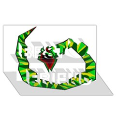 Decorative Snake Best Friends 3D Greeting Card (8x4)
