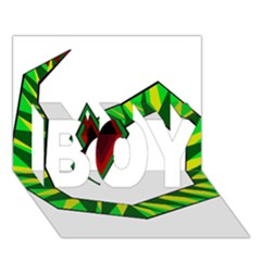 Decorative Snake Boy 3d Greeting Card (7x5)