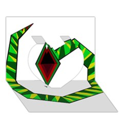 Decorative Snake Heart 3D Greeting Card (7x5)
