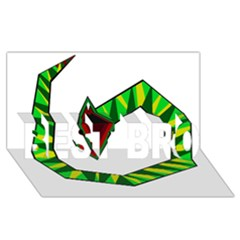 Decorative Snake BEST BRO 3D Greeting Card (8x4)