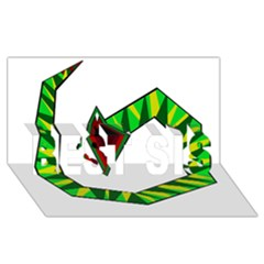 Decorative Snake BEST SIS 3D Greeting Card (8x4)