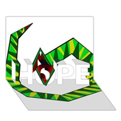 Decorative Snake HOPE 3D Greeting Card (7x5)