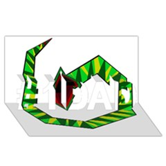Decorative Snake #1 DAD 3D Greeting Card (8x4)