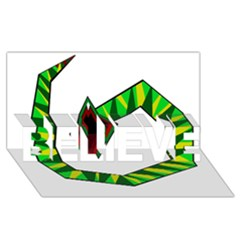 Decorative Snake Believe 3d Greeting Card (8x4)