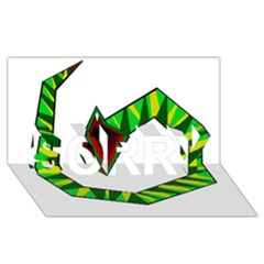 Decorative Snake SORRY 3D Greeting Card (8x4)