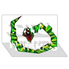 Decorative Snake Best Wish 3D Greeting Card (8x4)