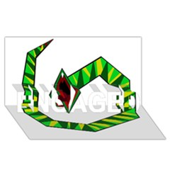 Decorative Snake Engaged 3d Greeting Card (8x4)