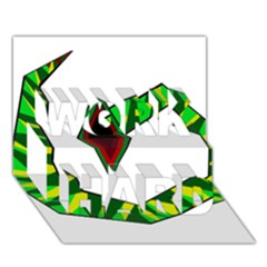 Decorative Snake Work Hard 3d Greeting Card (7x5)