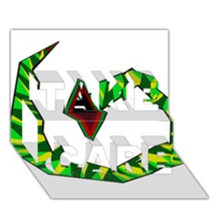 Decorative Snake TAKE CARE 3D Greeting Card (7x5)