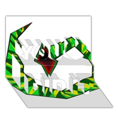 Decorative Snake You Did It 3D Greeting Card (7x5)