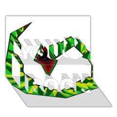 Decorative Snake You Rock 3D Greeting Card (7x5)