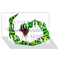 Decorative Snake Congrats Graduate 3D Greeting Card (8x4)