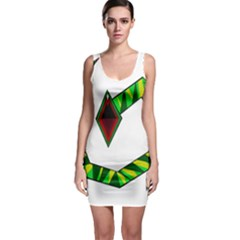 Decorative Snake Sleeveless Bodycon Dress