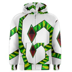 Decorative Snake Men s Zipper Hoodie