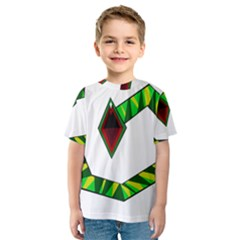 Decorative Snake Kid s Sport Mesh Tee
