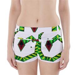 Decorative Snake Boyleg Bikini Wrap Bottoms