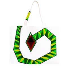 Decorative Snake Large Tote Bag