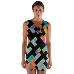 Connected shapes              Wrap Front Bodycon Dress