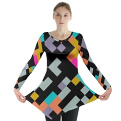 Connected shapes                                                                             Long Sleeve Tunic