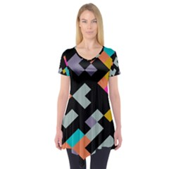 Connected shapes      Short Sleeve Tunic
