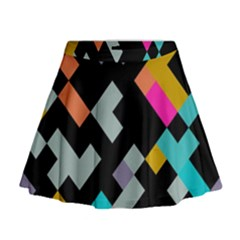 Connected shapes                                                                               Mini Flare Skirt