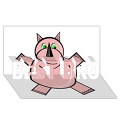 Pink Rhino BEST BRO 3D Greeting Card (8x4)